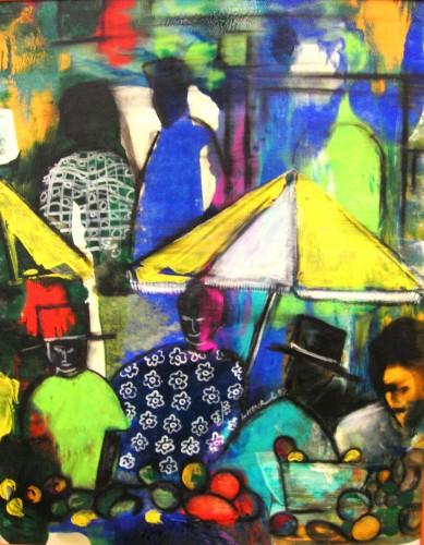 NIgel Henri 'Yellow Market Umbrella'