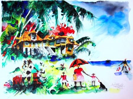 Vladimir Tarakanoff 'Aller à la plage'
